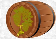 A barrel of wine grape Stock Photography