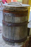 Barrel of wine . Large capacity. Royalty Free Stock Image