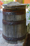 Barrel of wine . Large capacity. Stock Photo