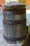 Barrel of wine near the house. Royalty Free Stock Photography