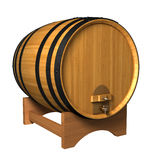 Barrel. Wooden wine barrel isolated on white background (3d render Stock Photo