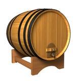 Barrel. Wooden wine barrel isolated on white background (3d render vector illustration