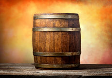 Barrel on yellow Stock Image