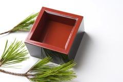 Barreled sake Stock Photo