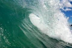 Barreling wave in Hawaii. A beautiful barreling wave in Hawaii royalty free stock image