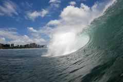 barrelingwave Royaltyfri Foto