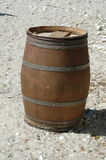 Barrell on the beach. Wooden barrell on the beach royalty free stock photography