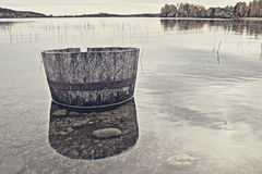 Barrell in the water Stock Photography