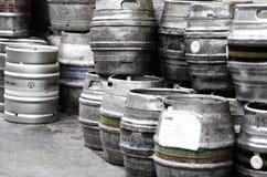 barrels öl royaltyfri bild