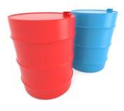 barrels голубой красный цвет Стоковое Изображение RF