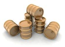 barrels золотистое Стоковые Фото