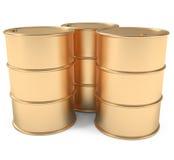 barrels золото Стоковое фото RF