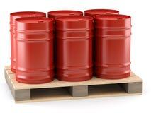 barrels паллет Стоковая Фотография