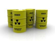 barrels радиоактивное Стоковое Изображение