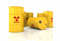 barrels радиоактивное Стоковая Фотография RF
