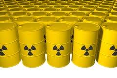 barrels радиоактивный отход изолировано 3d представляют иллюстрация вектора