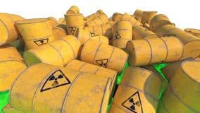 barrels радиоактивный отход 3d представляют иллюстрация вектора