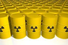 barrels радиоактивный отход 3d представляют иллюстрация штока