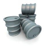 barrels серый цвет Стоковое Изображение RF