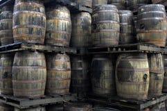 barrels старый ром Стоковые Изображения