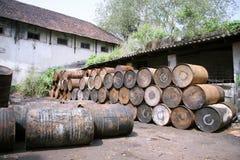 barrels фабрика снаружи стоковое изображение rf