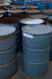 Barrels. 55 gallon drums Royalty Free Stock Image