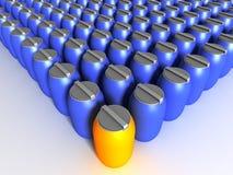 Barrels. 3d image of group of barrels vector illustration