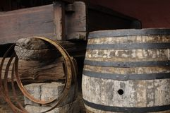 Barrels. In wine making company. Wine production is important agriculture activity in Tenerife island Royalty Free Stock Photo