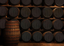 Barrels. Barrel from a whiskey factory Royalty Free Stock Images