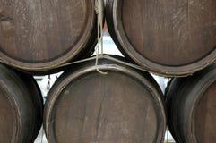 Barrels. Weathered Barrels stock photo