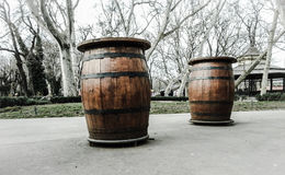 Barrels of alcohol Royalty Free Stock Photo
