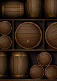 Barrels_background Stock Photos
