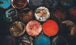 Barrels background waste Royalty Free Stock Photos