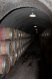 Barrels in Basement Stock Photo
