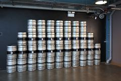 Barrels of beer in Guinness Storehouse Royalty Free Stock Images