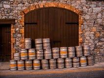 Barrels of beer in Ireland. Barrels of beer, in Ireland Royalty Free Stock Photo