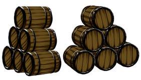 Barrels of beer Royalty Free Stock Photos