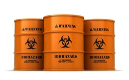 Barrels with biohazard substance Stock Images