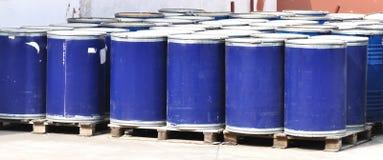 barrels blått färgämne Royaltyfria Foton