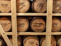 Barrels of Bourbon Whiskey stock photography