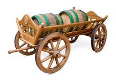 Barrels on cart Royalty Free Stock Photos