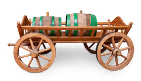Barrels on cart Royalty Free Stock Photo