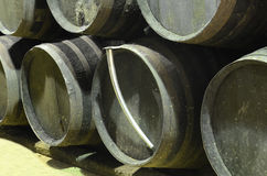 Barrels in cellar Stock Photography