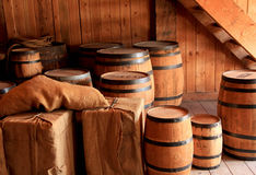 Barrels and Crates Stock Photos