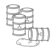 Barrels with dangerous fluid Stock Image