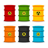 Barrels with dangerous substances Stock Photo