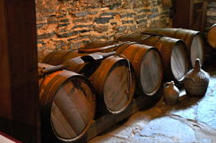 Barrels in Dungeon Stock Photo
