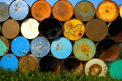 Barrels on end Royalty Free Stock Image