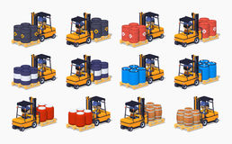 Barrels on the forklifts Stock Photography