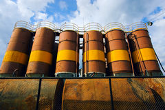 Barrels with fuel Royalty Free Stock Photography